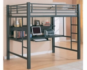 Coaster Furniture Workstation Full Loft Bed in Black Bunks CO460023