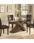 Coaster Large Scaled X Base Dining Table w/ Glass Top Nessa CO-103051