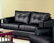 Coaster Leather Contemporary Love Seat Samuel CO-5016-LS