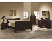 Coaster Louis Philippe Bedroom Set in Cherry CO-203971Set
