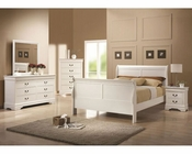 Coaster Louis Philippe Bedroom Set in White CO-204691Set
