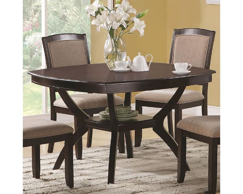 Dining Table Co Coaster Memphis Rounded Square Dining Table Co 102755