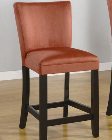 Coaster Microfiber Bar Stool Bloomfield In Red Co