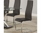 Coaster Modern Black Faux Leather Dining Chair CO-100515BLK (Set of 4)