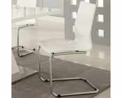 Coaster Modern Dining White Side Chair CO-120733