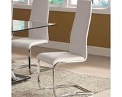 Coaster Modern White Faux Leather Dining Chair CO-100515WHT (Set of 4)