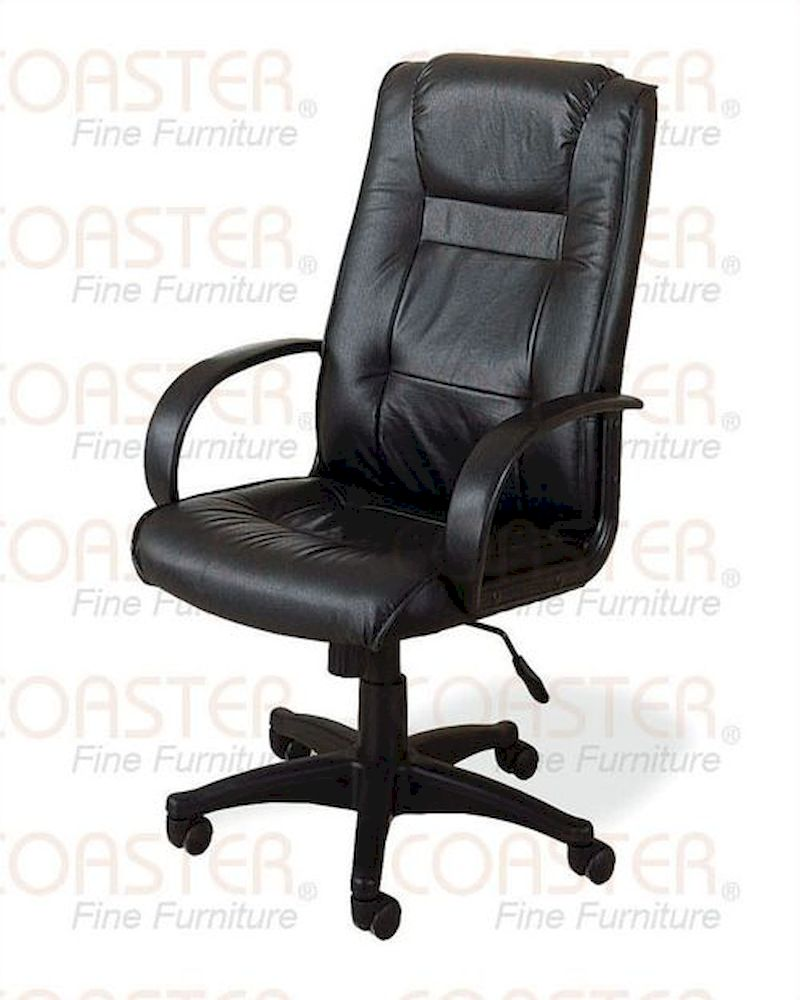 coaster office chair in black leather co 4261