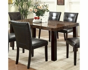 Coaster Orlando Rectangular Dining Table w/ Faux Marble Top CO-103791