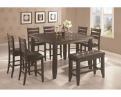 Coaster Page Contemporary Counter Height Set CO-102728Set