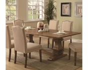 Coaster Parkins Dining Table w/ Shaped Double Pedestals CO-103711