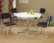 Coaster Round Dining Table & Upholstered Chairs Cleveland CO-2388Set