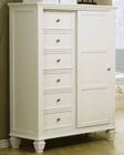 Coaster Sandy Beach 8 Drawer Chest in White CO-201307