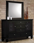 Coaster Sandy Beach Dresser & Mirror in Black CO-201323-4