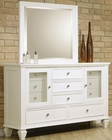 Coaster Sandy Beach Dresser & Mirror in White CO-201303-4