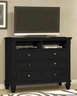Coaster Sandy Beach Media Chest  Black CO-201326
