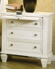 Coaster Sandy Beach Night Stand in White CO-201302