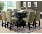 Coaster Stanton Counter Set w/ Green Chairs CO-102068GRN-Set