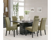 Coaster Stanton Dining Set w/ Green Chairs CO-102061GRN-Set
