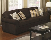 Coaster Stationary Sofa w/ Accent Pillows Rosalie CO-504241