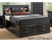 Coaster Louis Philippe Storage Bed in Black CO-201079BED