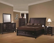 Coaster Storage Bedroom Set Sandy Beach in Cappuccino CO201990Set