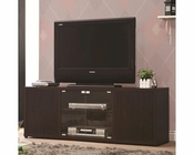 Coaster TV Console w/ Push-to-Open Glass Doors CO-700886