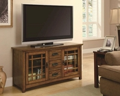 Coaster TV Console w/ Windowpane Door Fronts CO-700690
