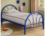Coaster Twin Metal Bed Fordham in Blue CO-2389N