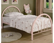 Coaster Twin Metal Bed Fordham in Pink CO-2389P
