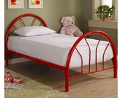 Coaster Twin Metal Bed Fordham in Red CO-2389R