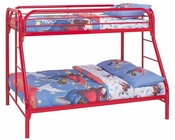 Coaster Twin Over Full Bed w/ Side Ladders Fordham in Red CO-2258R