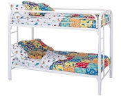 Coaster Twin Over Twin Bunk Bed Fordham in White CO-2256W