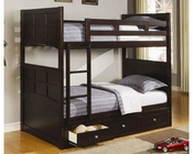Coaster Twin over Twin Bunk Bed with Drawers Jasper CO460136-7