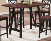 Coaster Two-Tone Counter Height Table w/ Angled Legs Makelim CO-104501