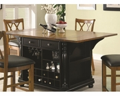 Coaster Two-Tone Kitchen Island Kitchen CArts CO-102270-71