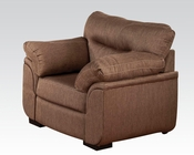 Cocoa Linen Chair Avalon by Acme Furniture AC51692
