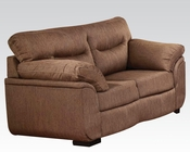 Cocoa Linen Loveseat Avalon by Acme Furniture AC51691