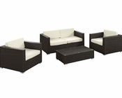 Concert Outdoor Sofa Set in Espresso White by Modway MY-EEI976EW