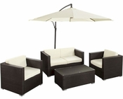 Concord Outdoor Sofa Set in Espresso White by Modway MY-EEI977EW