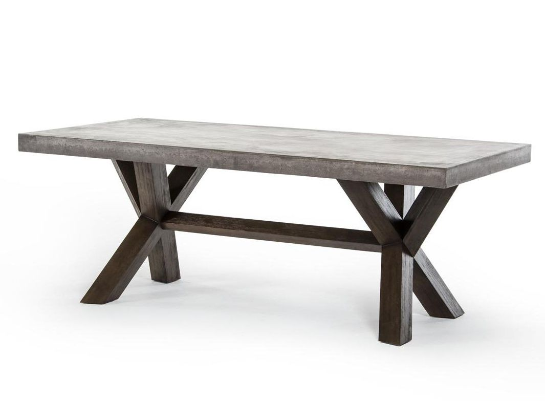 concrete dining tables concrete kitchen table Concrete Dining Table
