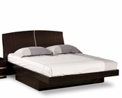 Contemporary Bed Agata in Wenge Finish 35B62
