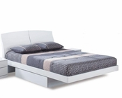 Contemporary Bed Agata in White 35B52