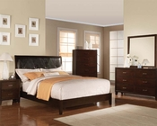 Contemporary Bedroom Set Tyler Cappuccino by Acme Furniture AC19540SET