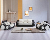 Contemporary Black and White Sofa Set 44L4088
