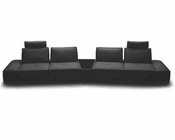 Contemporary Italian Leather Sectional Sofa 44L5929