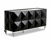 Contemporary Lacquer Three-Door Buffet 44D504A-B