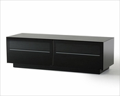 Contemporary Black Matte Lacquer TV Stand 44ENT8152
