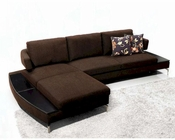 Contemporary Brown Fabric Sectional Sofa 44L1077-BR