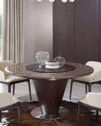 Contemporary Brown Marble Round Dining Table 44D550T