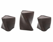 Contemporary Brown Stool Table Set 44D1148-SET